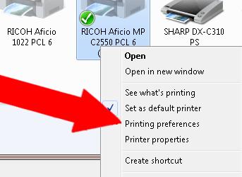 Setting Default Printer Settings (Windows)